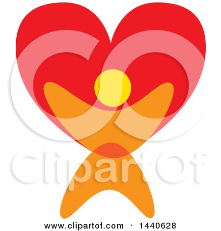 Clipart of a Person Holding up a Love Heart - Royalty Free Vector Illustration by ColorMagic