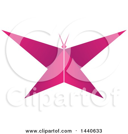 Clipart of a Pink Butterfly - Royalty Free Vector Illustration by ColorMagic