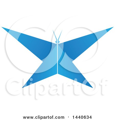 Clipart of a Blue Butterfly - Royalty Free Vector Illustration by ColorMagic