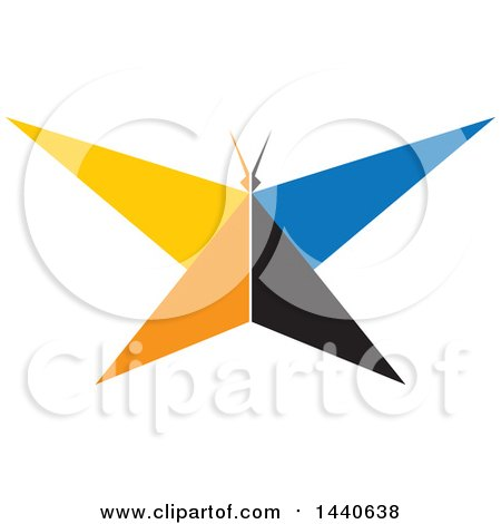 Clipart of a Colorful Butterfly - Royalty Free Vector Illustration by ColorMagic
