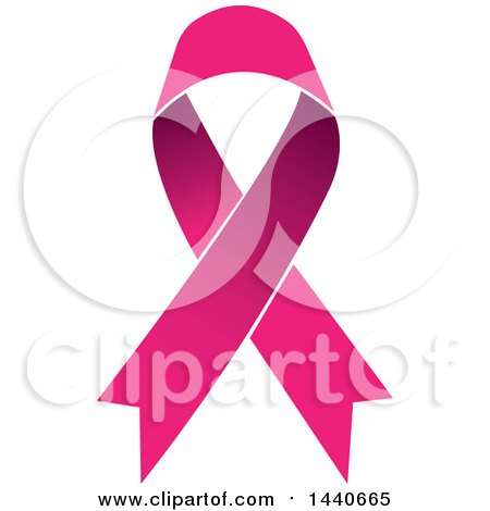 Clipart of a Pink Awareness Ribbon - Royalty Free Vector Illustration by ColorMagic
