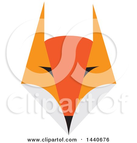 Clipart Of A Fox Face Royalty Free Vector Illustration