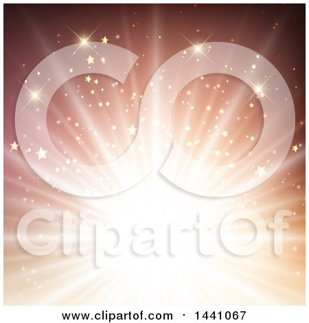 Clipart of a Starry Burst - Royalty Free Vector Illustration by KJ Pargeter