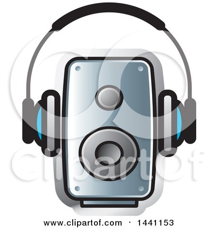 Clipart of a Pair of Headphones and a Speaker - Royalty Free Vector Illustration by Lal Perera