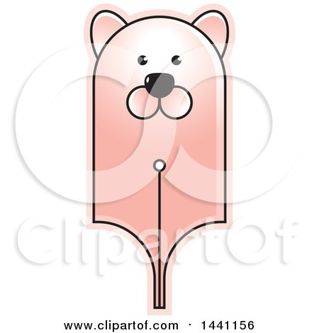 Clipart of a Bear Head Pen Nib - Royalty Free Vector Illustration by Lal Perera