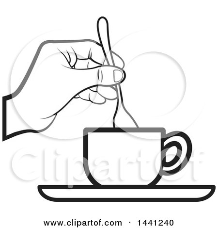 Clipart of a Tea Cup - Royalty Free Vector Illustration by Lal ...