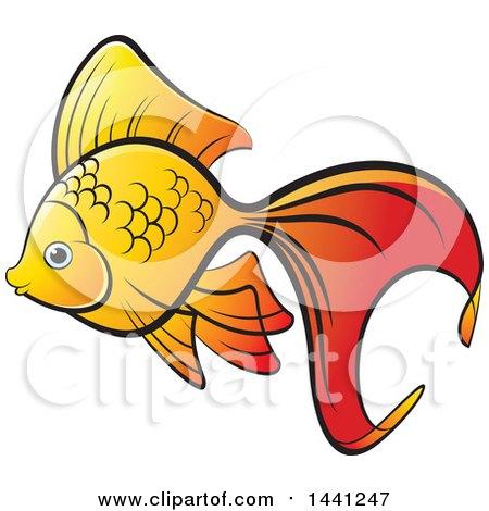 Royalty-Free (RF) Goldfish Clipart, Illustrations, Vector Graphics #1