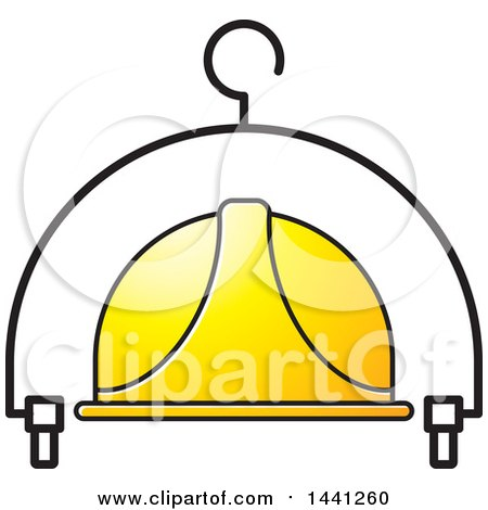 Clipart of a Hardhat and Hanger Icon - Royalty Free Vector Illustration by Lal Perera
