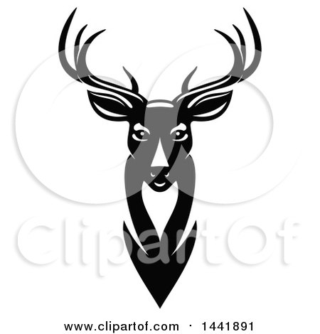 Clipart of a Black and White Buck - Royalty Free Vector Illustration by Vector Tradition SM