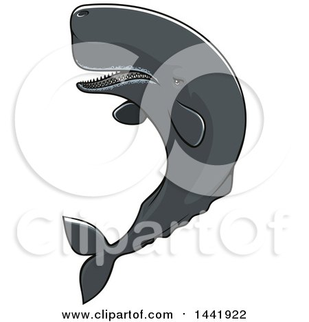 Clipart of a Sperm Whale - Royalty Free Vector Illustration by Vector Tradition SM