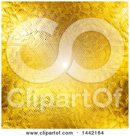 Clipart of a Background of Light and Golden Dots - Royalty Free Vector Illustration by KJ Pargeter