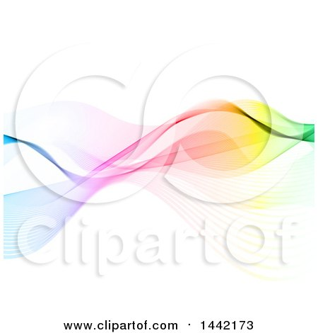 Clipart of a Background of Colorful Waves - Royalty Free Vector Illustration by KJ Pargeter