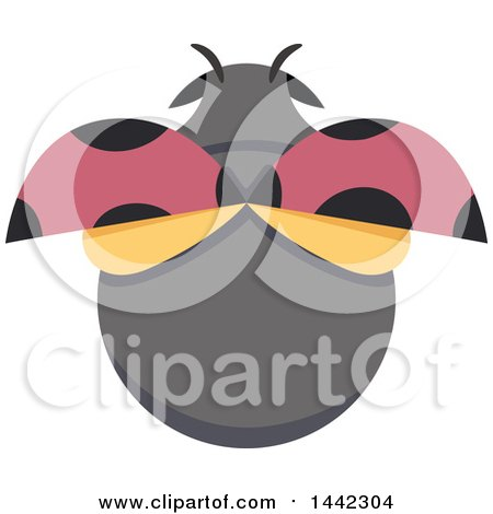 Clipart of a Ladybug from Above - Royalty Free Vector Illustration by BNP Design Studio