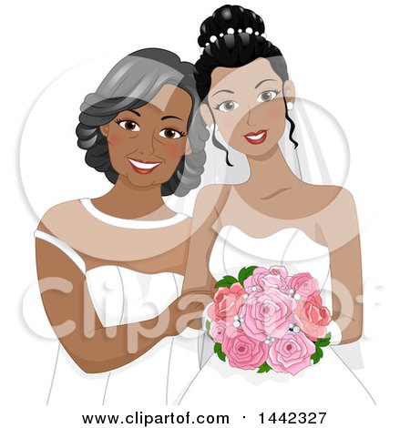 The Mother of Bride Dress Clip Art