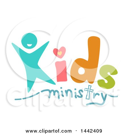 Clipart of a Kids Ministry Text Design - Royalty Free Vector Illustration by BNP Design Studio