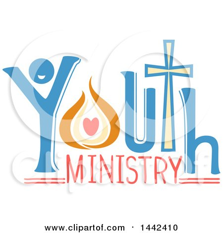Clipart of a Youth Ministry Text Design - Royalty Free Vector Illustration by BNP Design Studio
