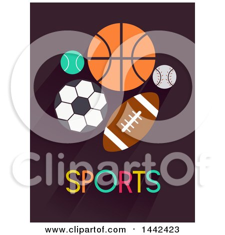 Clipart of Sports Balls and Text - Royalty Free Vector Illustration by BNP Design Studio