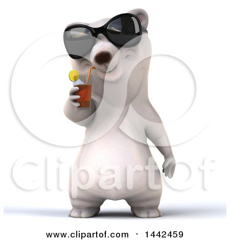 Clipart of a 3d Polar Bear, on a White Background - Royalty Free Illustration by Julos