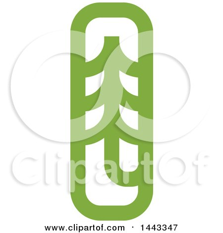 Clipart of a Green Evergreen Fir Tree - Royalty Free Vector Illustration by elena