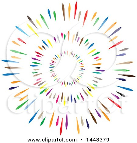 Clipart of a Colorful Circle Design - Royalty Free Vector Illustration by ColorMagic