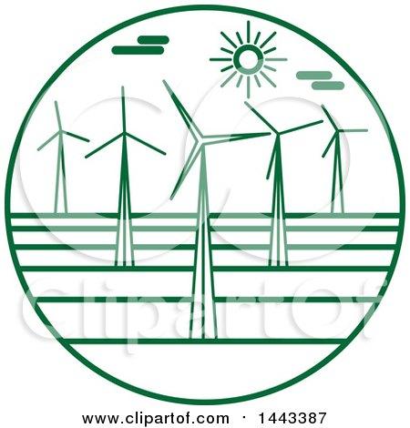 Green Wind Farm Logo Design Posters, Art Prints