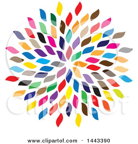 Clipart of a Cluster of Colorful Petals - Royalty Free Vector Illustration by ColorMagic