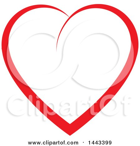 Clipart of a Red Heart - Royalty Free Vector Illustration by ColorMagic