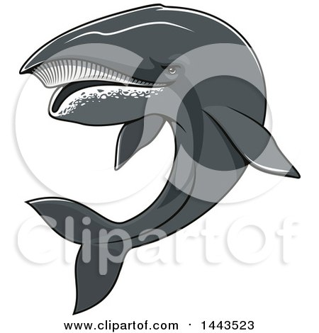 Clipart of a Tough Humpback Whale Mascot - Royalty Free Vector Illustration by Vector Tradition SM