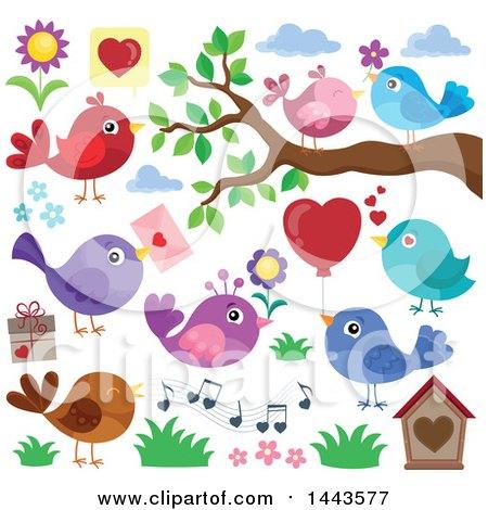 Valentine Love Birds Posters, Art Prints