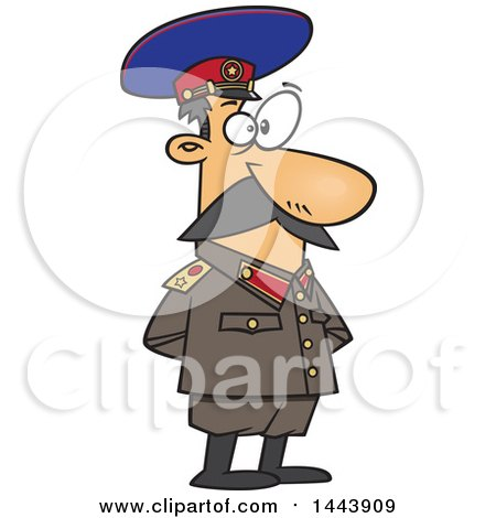 Clipart of a Cartoon Man, Joseph Stalin, Standing with His Hands Behind His Back - Royalty Free Vector Illustration by toonaday
