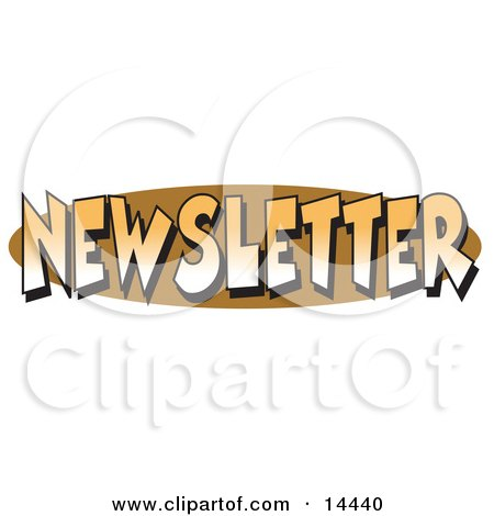 """Internet Web Button Reading """"Newsletter"""" Clipart Illustration by Andy Nortnik"""