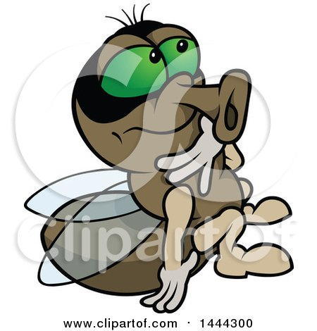Clipart of a Cartoon Fly - Royalty Free Vector Illustration by dero