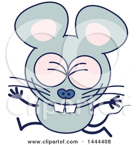 Clipart of a Cartoon Celebrating Mouse Mascot Character - Royalty Free Vector Illustration by Zooco