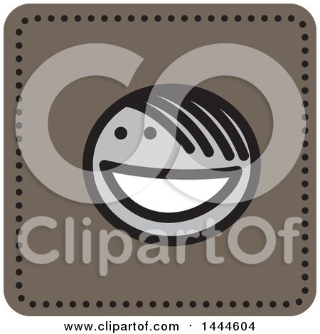 Clipart of a Stick Boy Avatar Face Icon - Royalty Free Vector Illustration by ColorMagic
