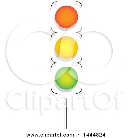 Clipart of a Street Light - Royalty Free Vector Illustration by ColorMagic