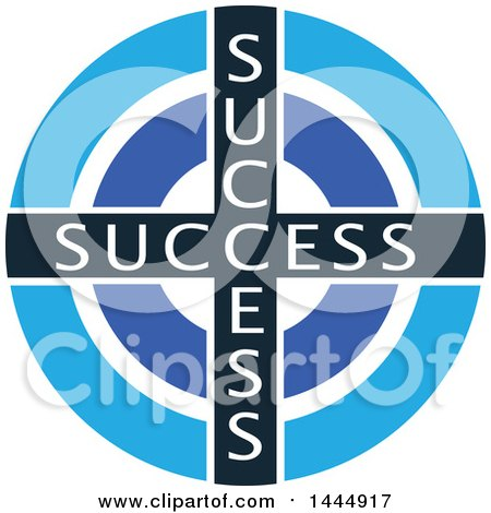 Clipart of a Success Target - Royalty Free Vector Illustration by ColorMagic
