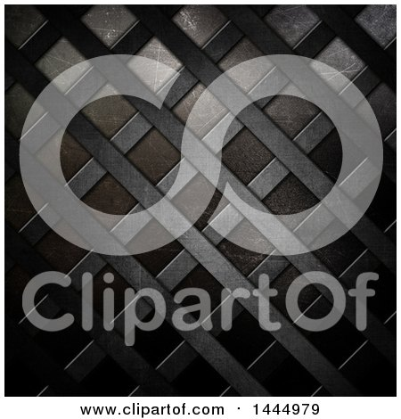 Clipart of a Metallic Lattice Background - Royalty Free Illustration by KJ Pargeter