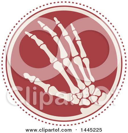 Clipart of a Retro Flat Styled Hand Xray Medical Design - Royalty Free Vector Illustration by Vector Tradition SM