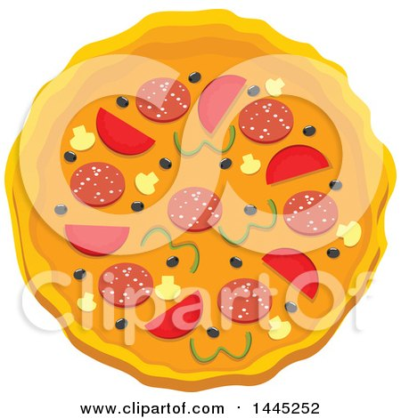 Clipart of a Pizza - Royalty Free Vector Illustration by Vector Tradition SM