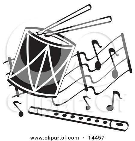 Royalty Free RF Drum Clipart Illustrations Vector Graphics 2