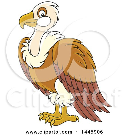 Clipart of a Cartoon Vulture Bird - Royalty Free Vector Illustration by Alex Bannykh