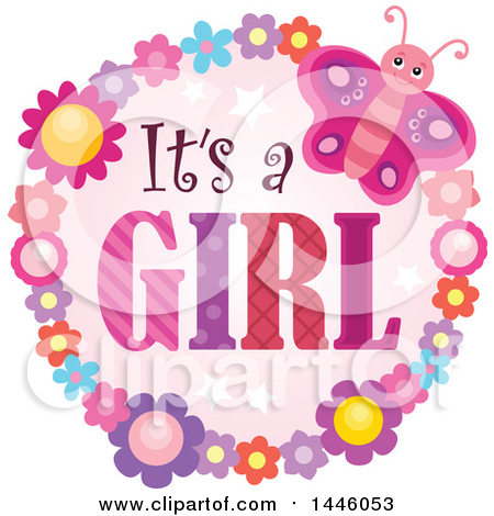 Royalty-Free (RF) Its A Girl Clipart, Illustrations, Vector ...