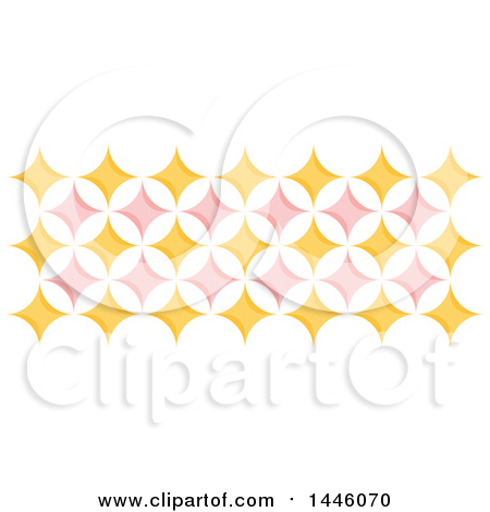 Clipart of a Retro Yellow and Pink Geometric Star Pattern - Royalty Free Vector Illustration by elena