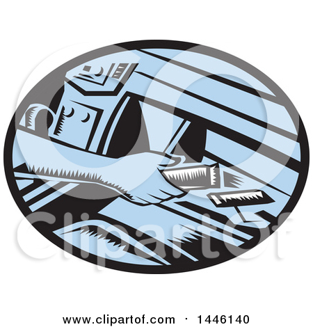 Clipart of a Retro Woodcut Driver's Hand Reaching for an Energy Bar in a Glove Box - Royalty Free Vector Illustration by patrimonio