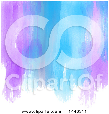 Background of Purple and Blue Watercolor Paint Strokes on White Posters, Art Prints