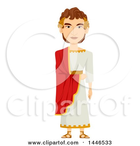 Clipart of a Roman Emperor in a Tunic - Royalty Free Vector Illustration by BNP Design Studio