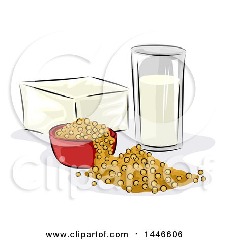 Clipart of Soy Products - Royalty Free Vector Illustration by BNP Design Studio
