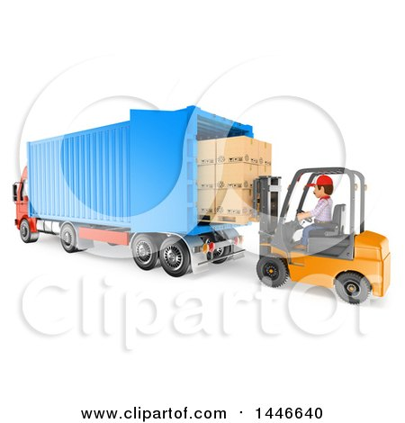 clipart of a 3d shipping warehouse worker mover or delivery man rh clipartof com clipart shipping container shipping clippings 17th january 2018