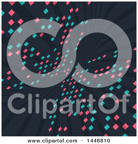 Clipart of a Futurist Pixel Background - Royalty Free Vector Illustration by KJ Pargeter