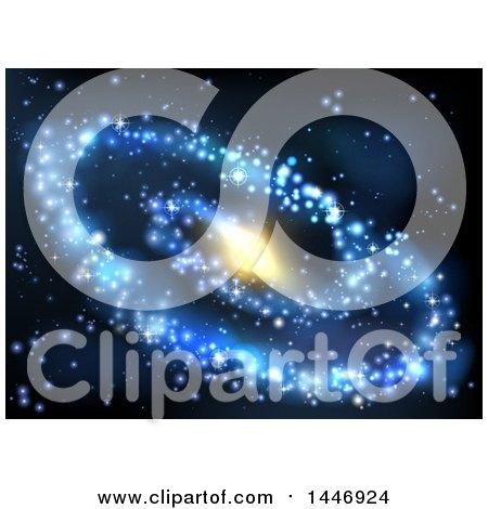Clipart of a Spiral Galaxy Background - Royalty Free Vector Illustration by AtStockIllustration